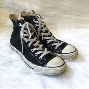 Converse Black Canvas High Top Sneakers All Star